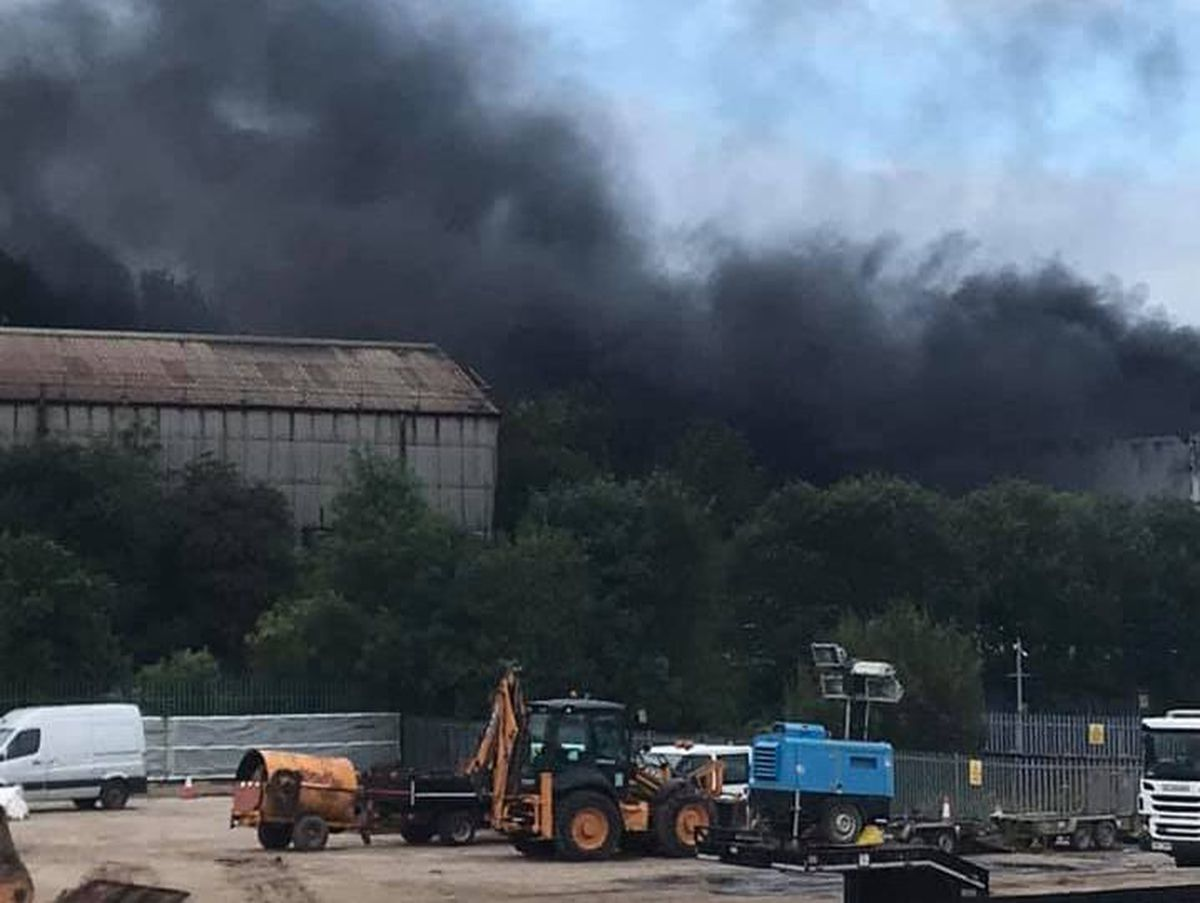 Firefighters are at the fire in Lye. Pic: Stephen Jones