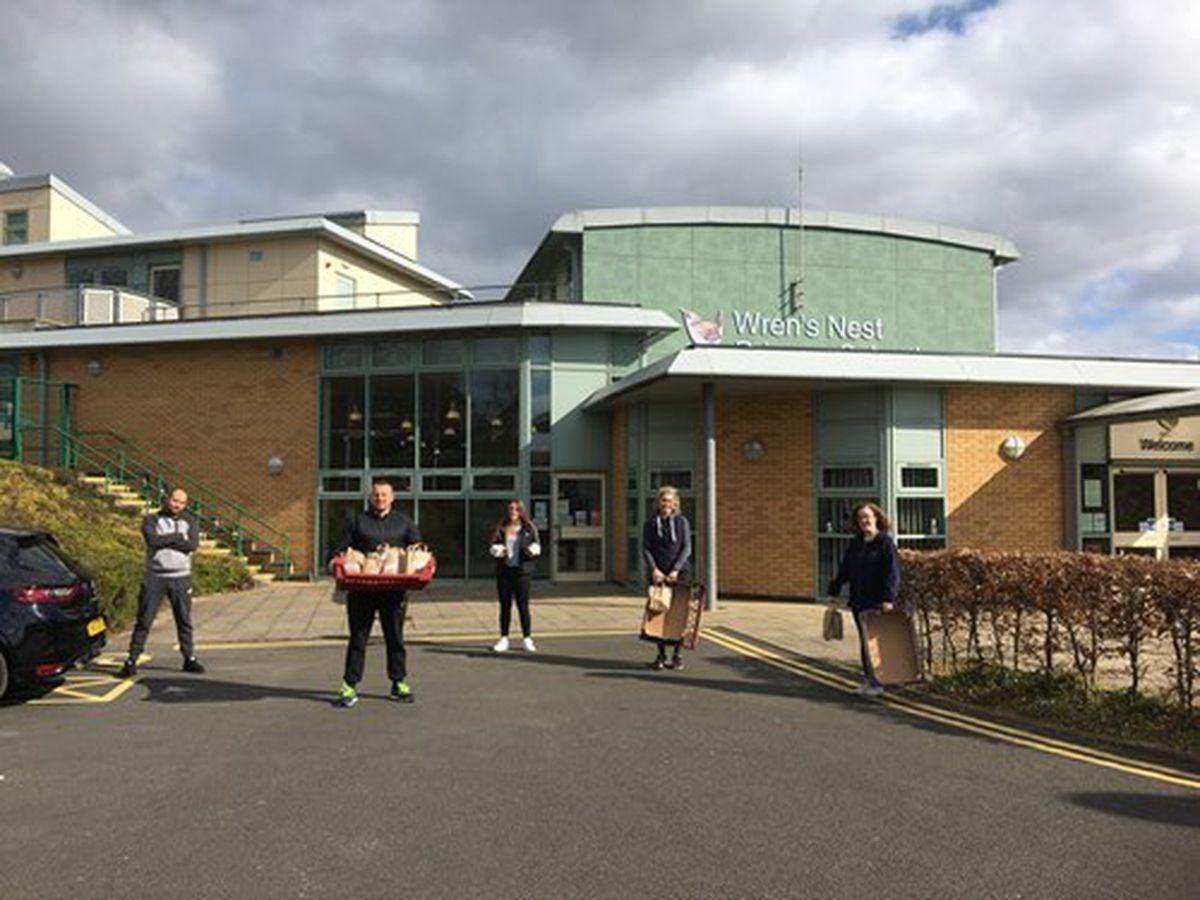 Volunteers delivered thousands of free school meals to children in Dudley