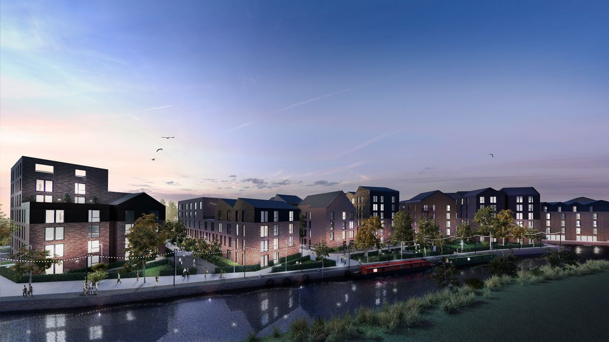 A CGI image of what Wolverhampton's Canalside development could look like if the plans are backed. Photo: Placefirst