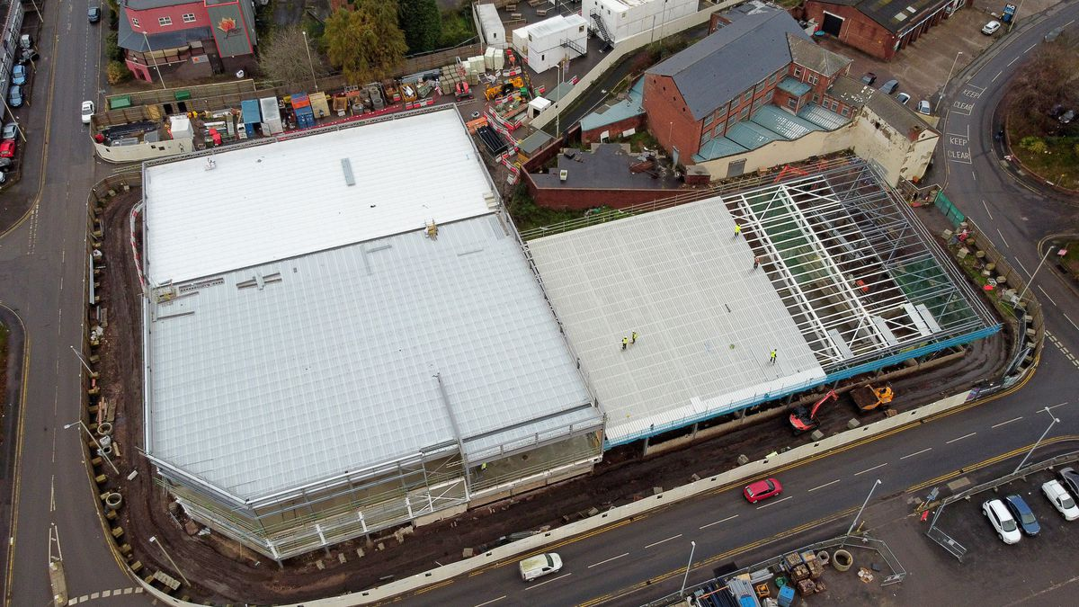 Work is progressing on the new Dudley Leisure Centre, off Flood Street