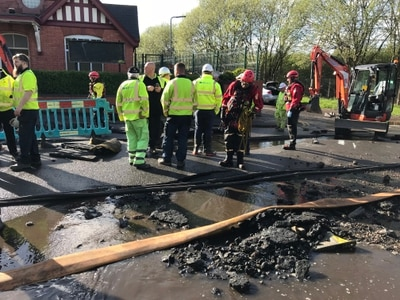 Wednesbury flood: Clean-up begins after roads, cars and homes hit by 10 MILLION litres of water
