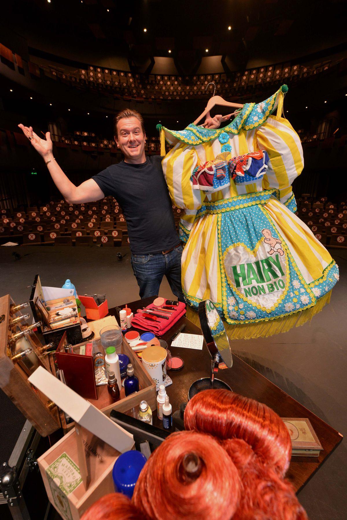 Panto dame Brad Fitt did perform a one-man show at Shrewsbury's Theatre Severn