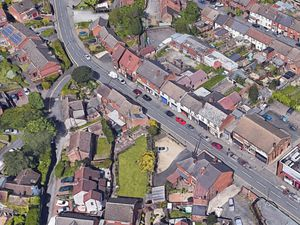 An aerial view showing Louise Street in Gornal, where the crash happened. Photo: Google