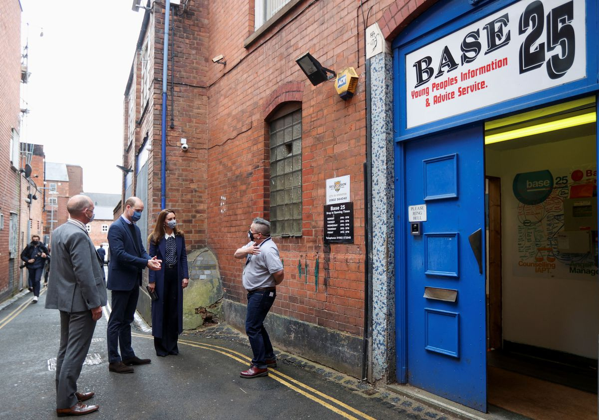 William and Kate at Base25 in Wolverhampton