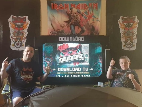 Download fans enjoy festival from home with creative set ups - with pictures