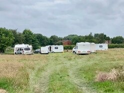 Travellers break into school's playing fields and 'destroy orchard' planted by pupils