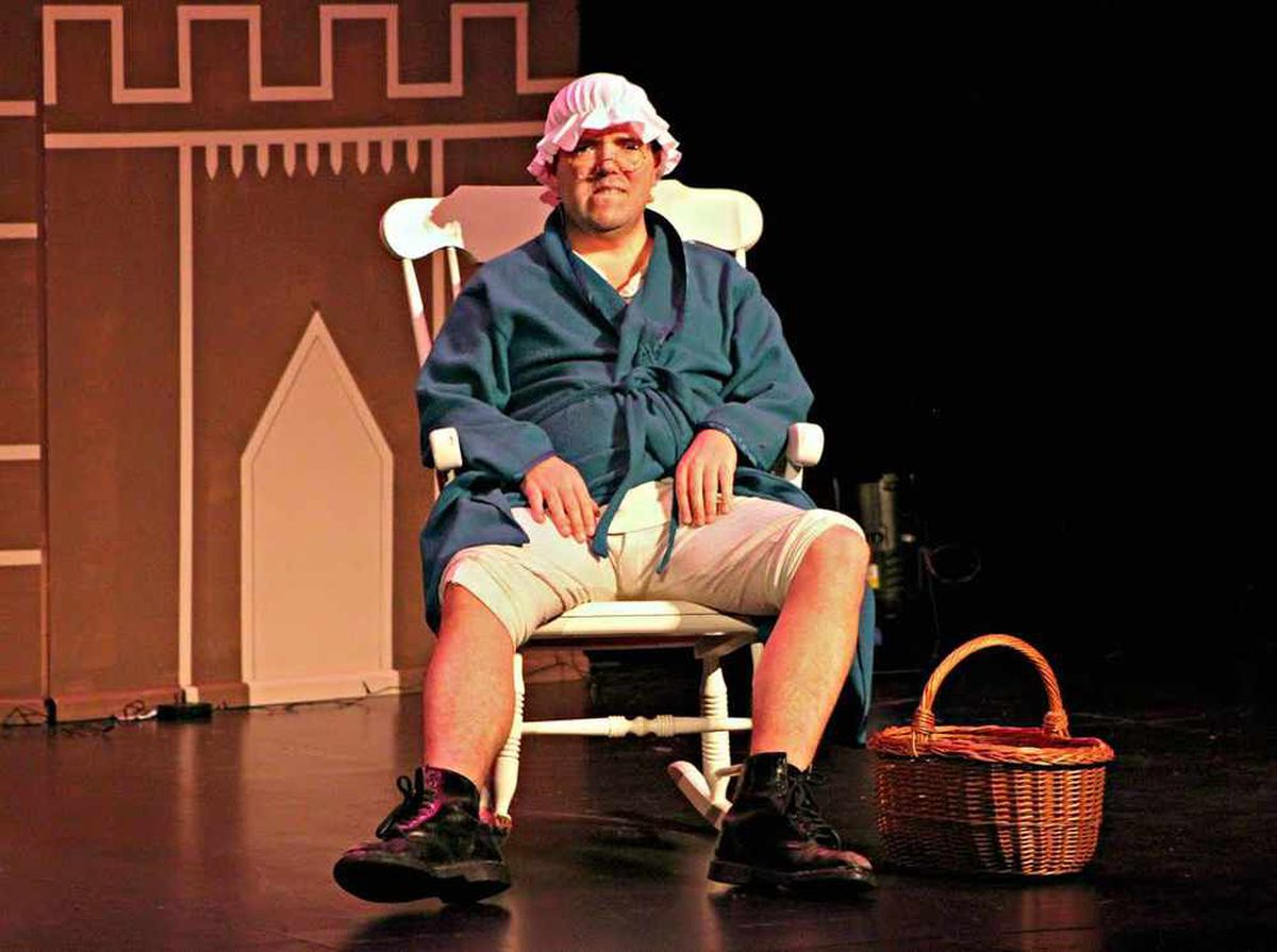 Little Willie (James Collins) playing Grandmother in Little Red Riding Hood