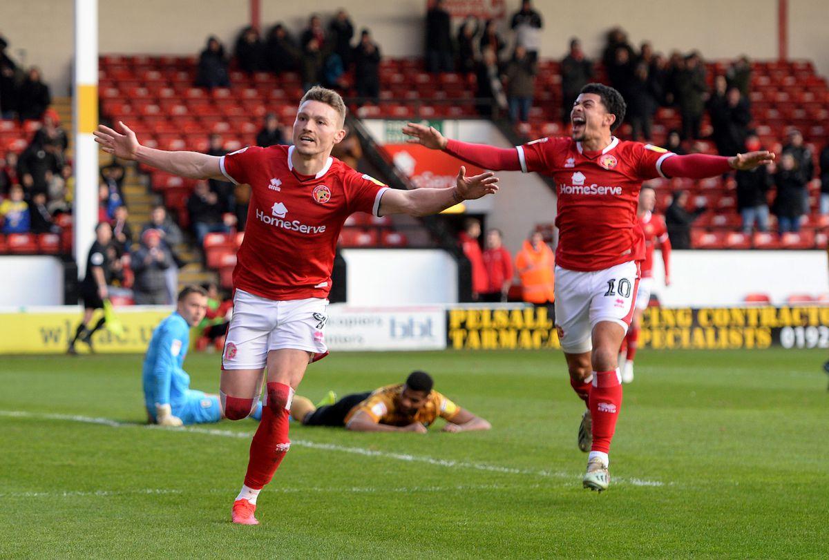 Caolan Lavery celebrates with Josh Gordon