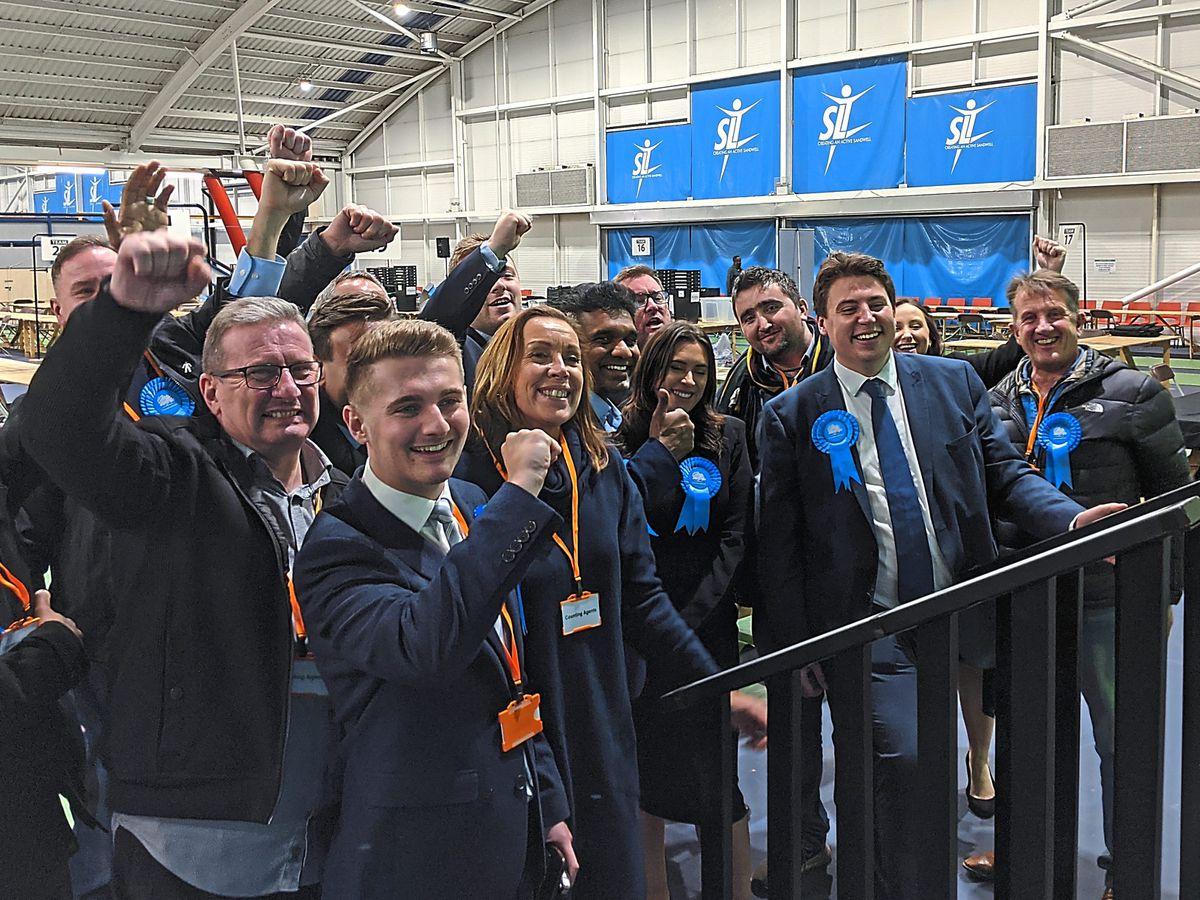 Conservatives celebrate winning both West Bromwich seats