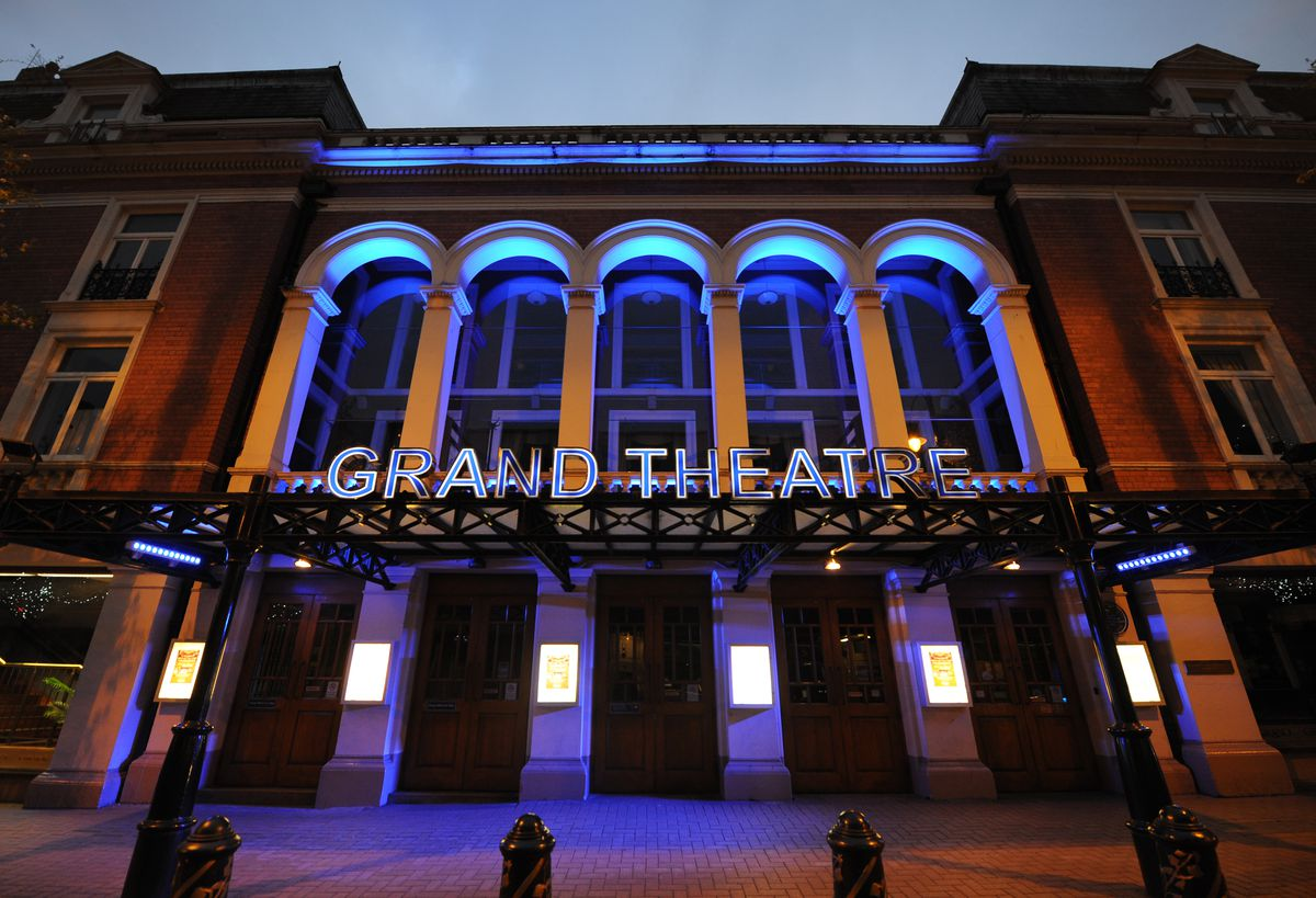 Wolverhampton Grand Theatre lit up blue to honour the NHS