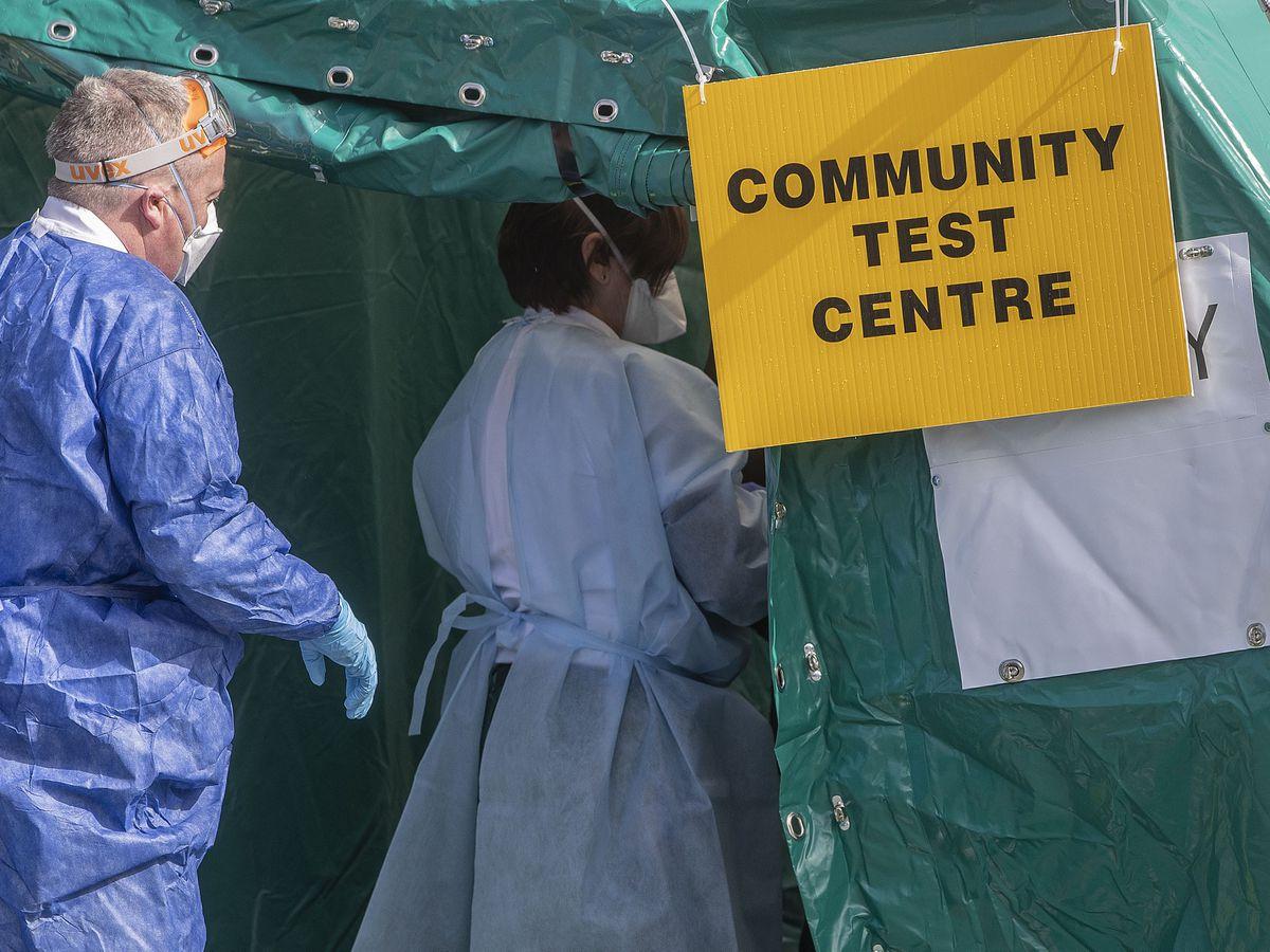 Coronavirus test centre