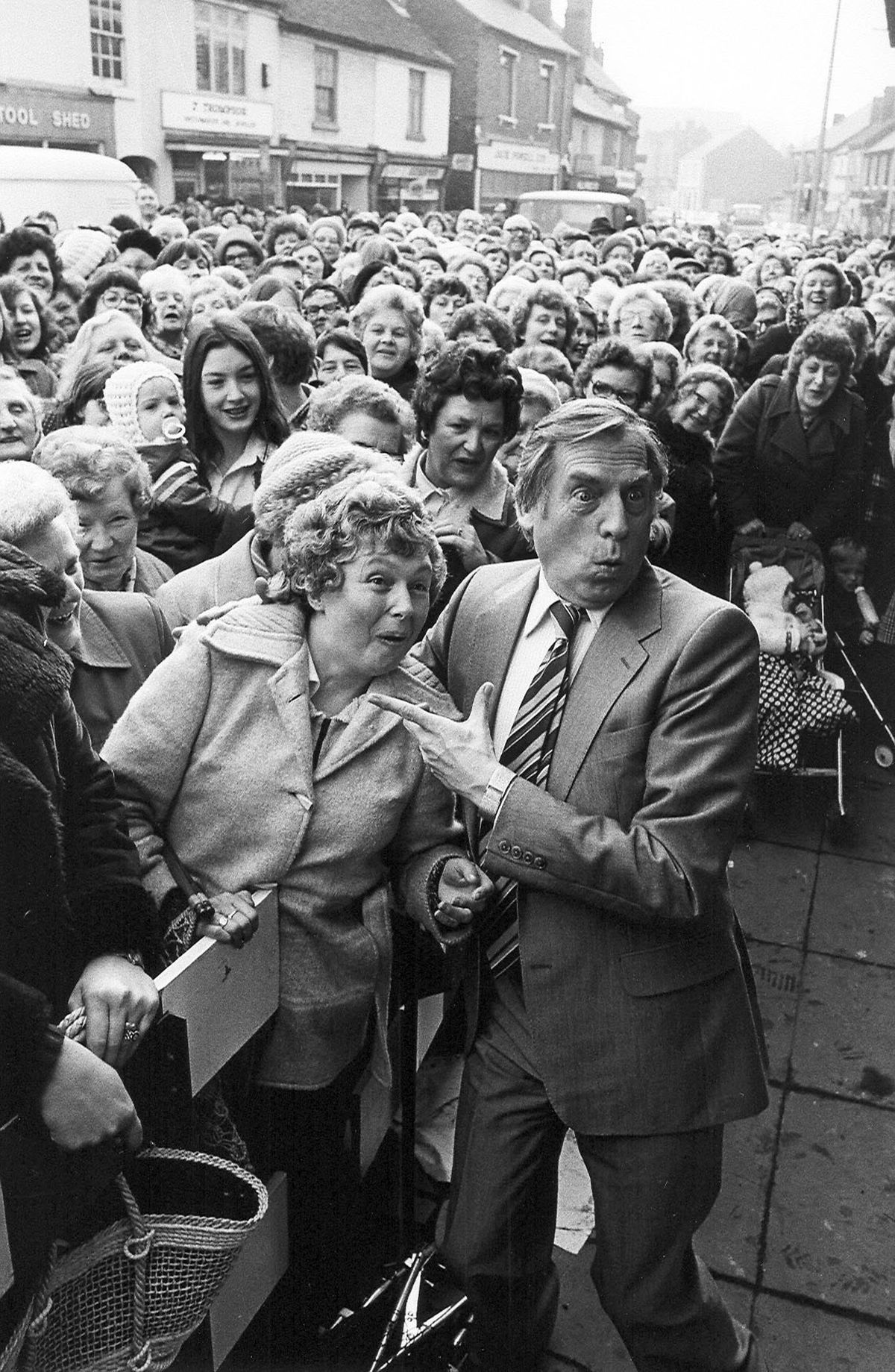 Larry Grayson at Old Hill Market in 1980