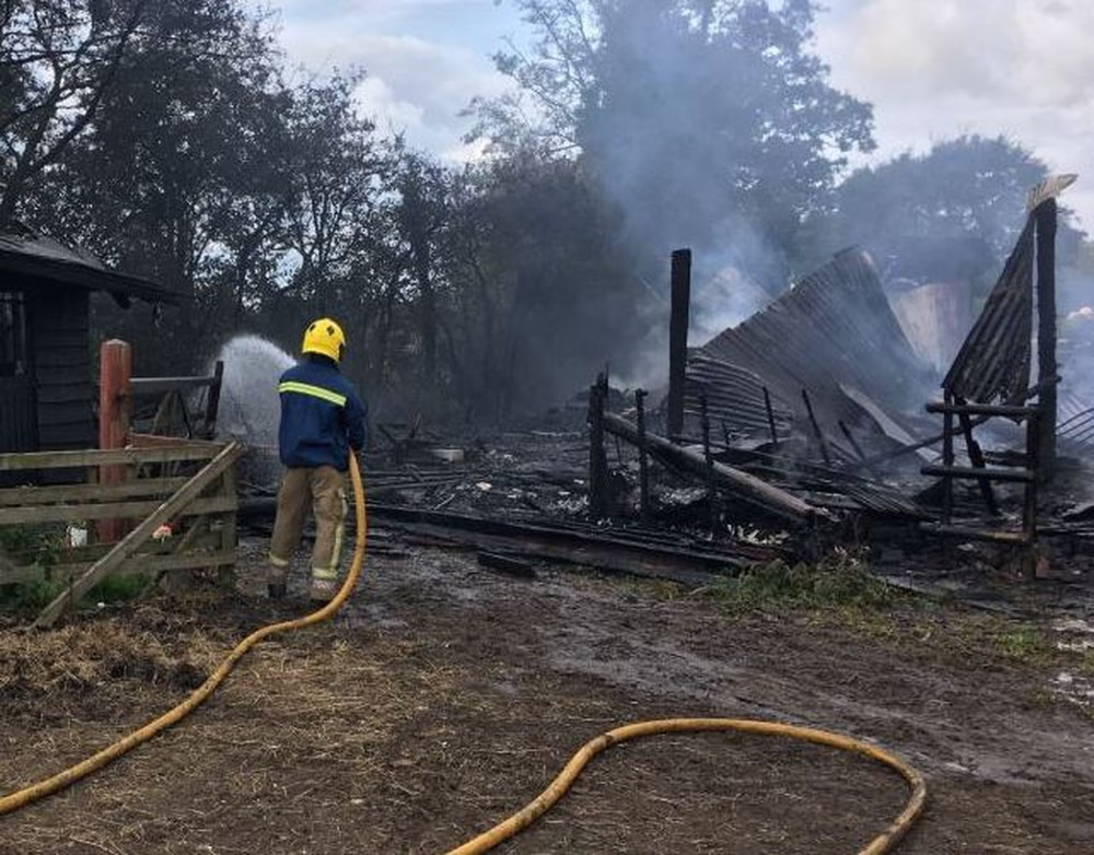 Fire at pony rescue centre in Staffordshire caused by faulty