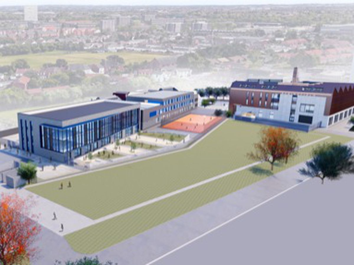 An artist's impression of the building extension at UTC West Midlands in Wolverhampton