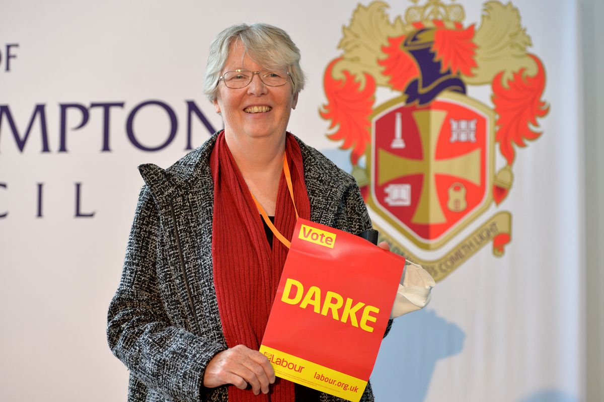 Current mayor Claire Darke smiles after winning her seat in the Park ward
