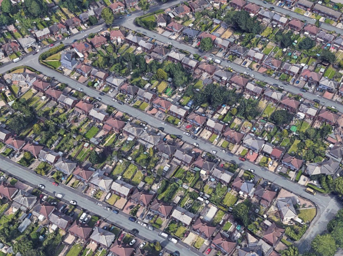 The incident started in Blackthorne Road, centre. Photo: Google