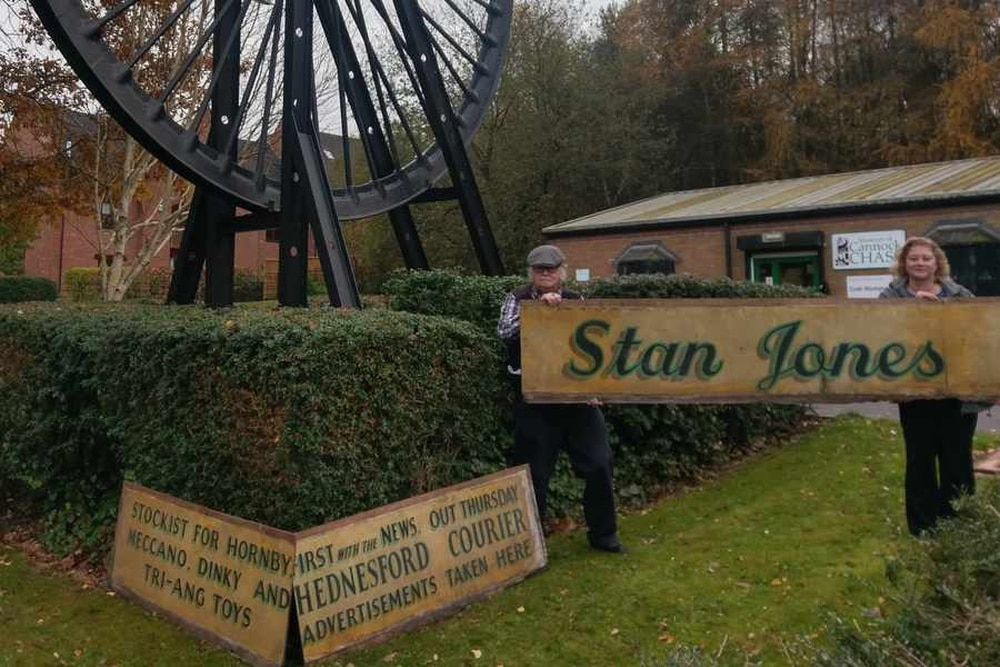 Shop signs saved from the scrap heap to honour Hednesford