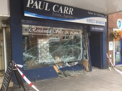 Elderly driver escapes injury after crashing car into Aldridge estate agents