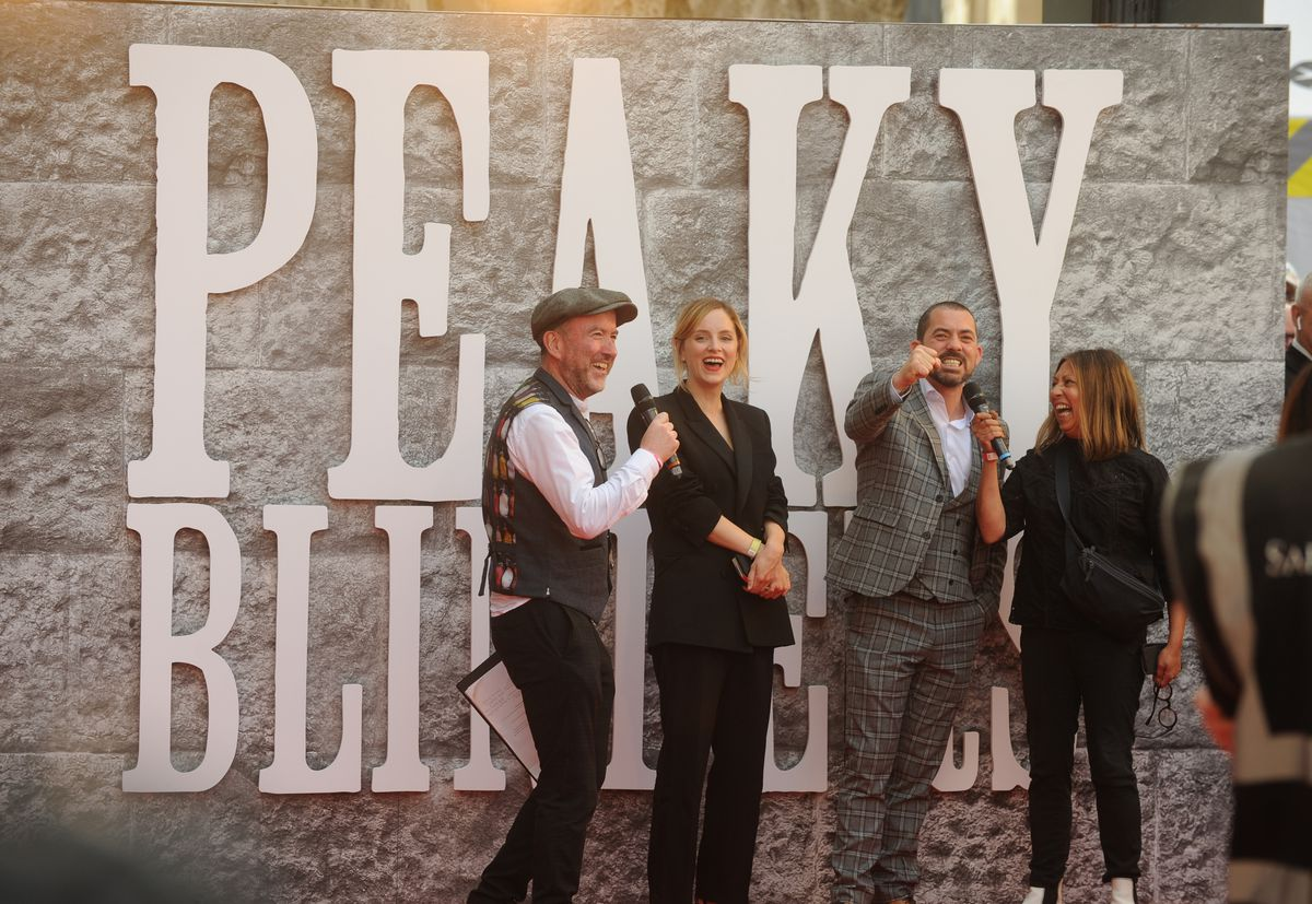 Peaky Blinders premiere, Birmingham Town Hall. Sophie Rundle and Packy Lee
