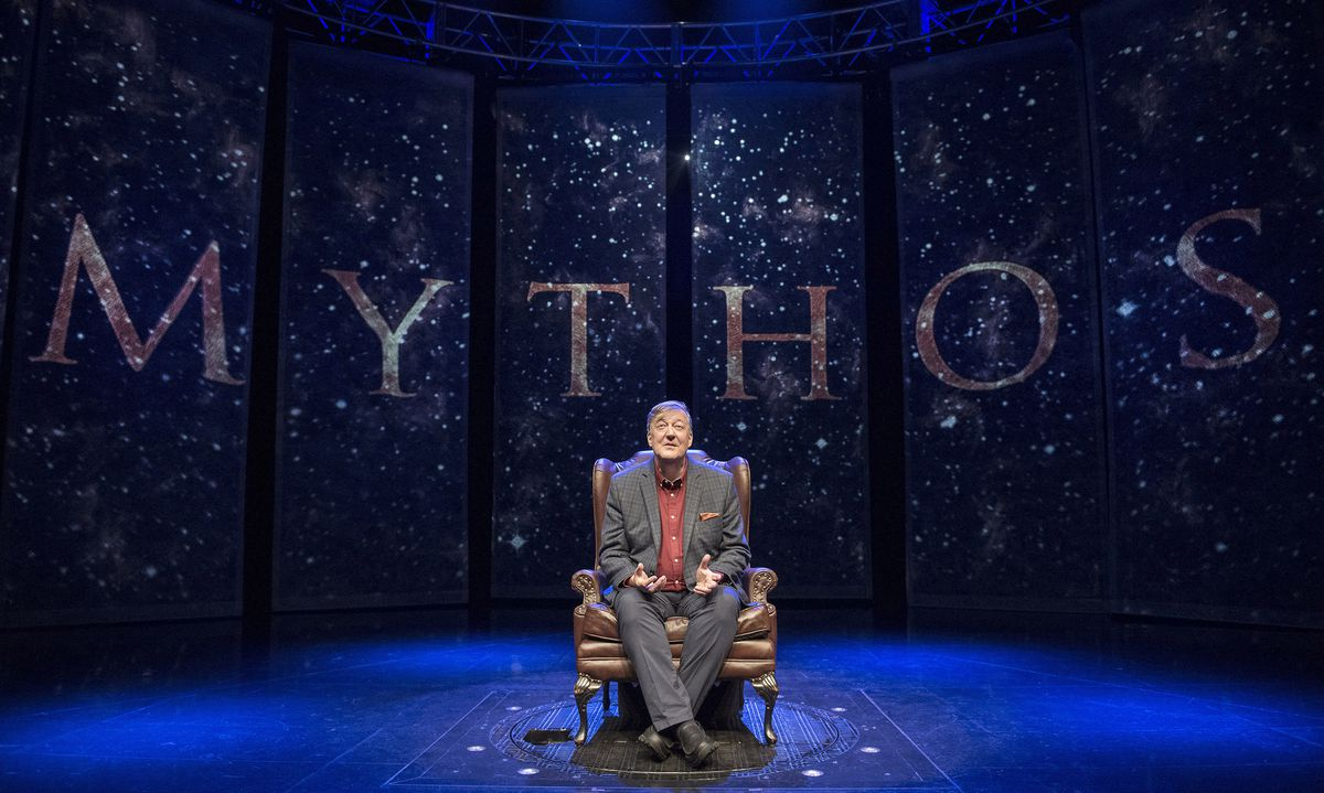 Stephen Fry's Mythos tour is in Birmingham for three shows