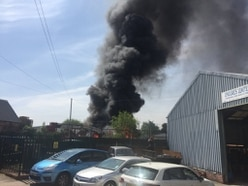 Flames shoot up as thick smoke billows over Black Country - WATCH