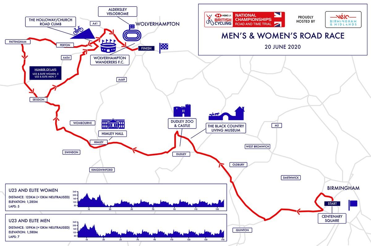 Check out the course as the road race passes key Black Country landmarks
