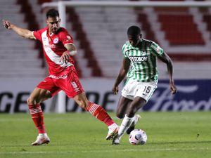 Yerson Mosquera in action for Atletico Nacional