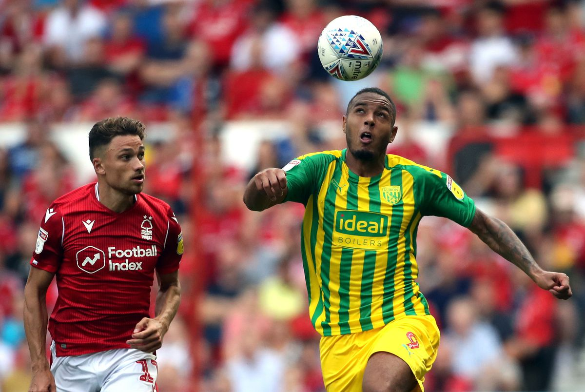 Matty Cash, seen here playing against Albion, had an excellent season for Forest.