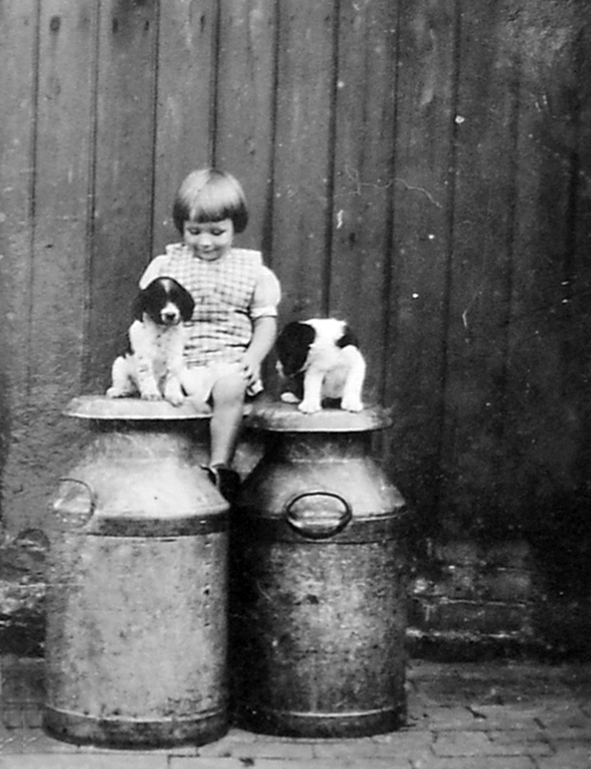 Young Jean Taylor at Sales Farm, Somerwood, in the 1930s.