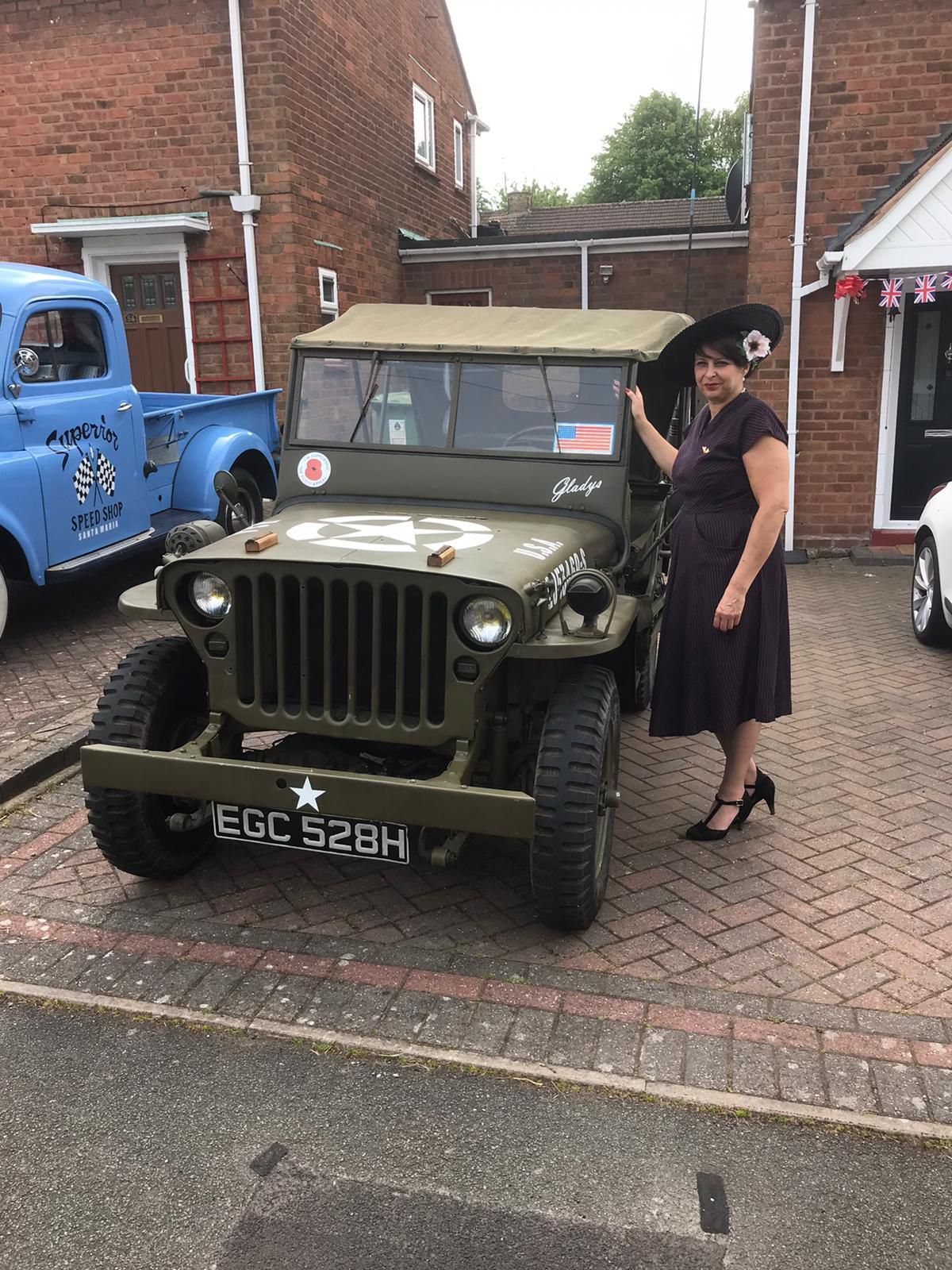 An army vehicle displayed to celebrate VE Day on Redhurst Drive, Wolverhampton. Picture from: Joseph Richards