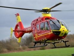 Motorcyclist taken to hospital after crash in Kidderminster