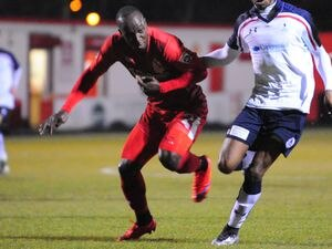Cliff Moyo in action for Alfreton Town in 2016