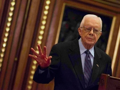 Jimmy Carter in hospital after fall at home