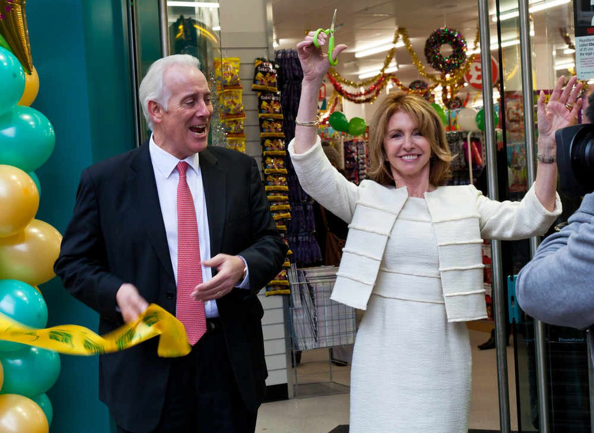 Jim McCarthy and celebrity Jane Asher officially open Poundland's 500th store