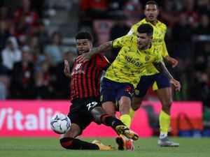 Philip Billing of AFC Bournemouth and Alex Mowatt of West Bromwich Albion. (AMA)