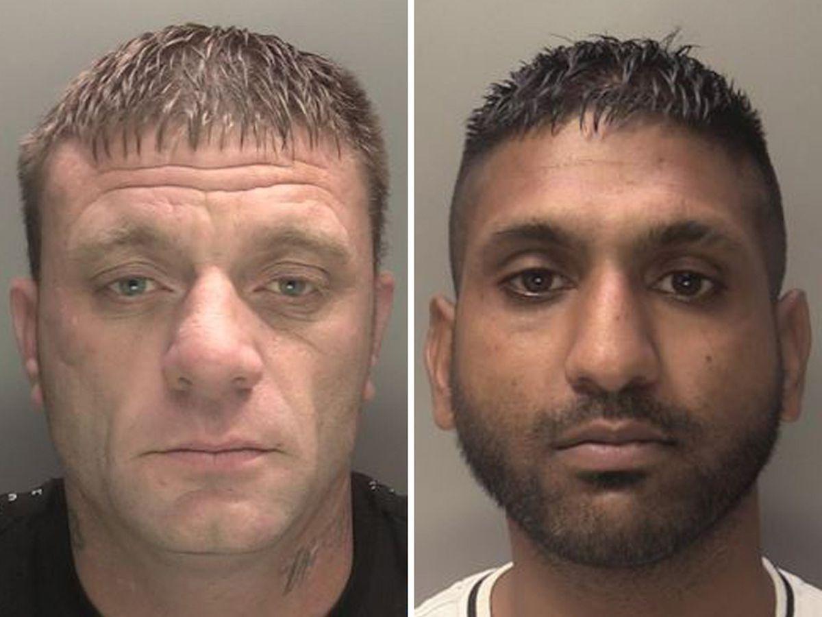 Murderers Steven Bennett, left, and Suni Singh Gill, right