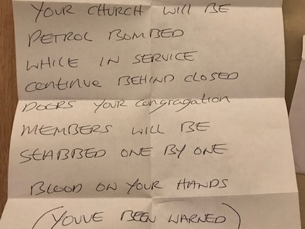 Letters threatening petrol bombings sent to West Midland churches