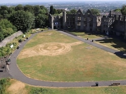 Warm weather causes strange markings to appear at Dudley Castle