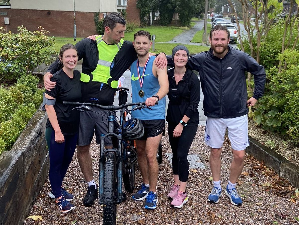 Tom Winter's friends and family helped him excel in the marathon