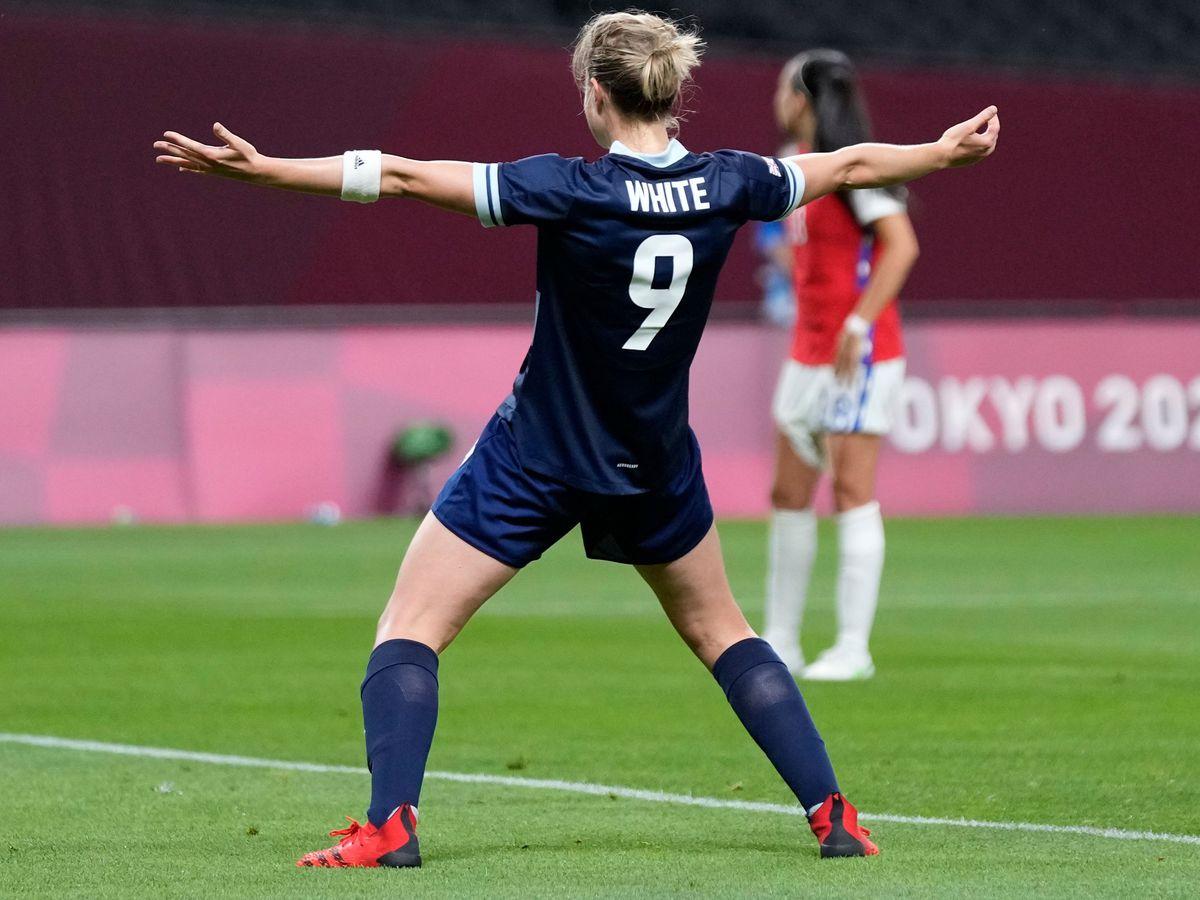 Ellen White scored twice against Chile