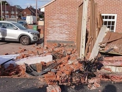 Wall and garden fence demolished in Brierley Hill crash