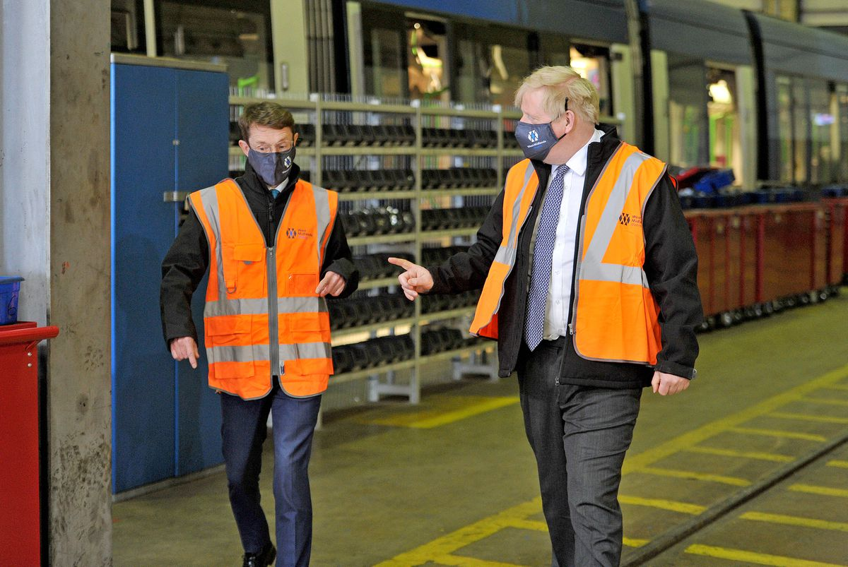 Boris Johnson with West Midlands Mayor Andy Street