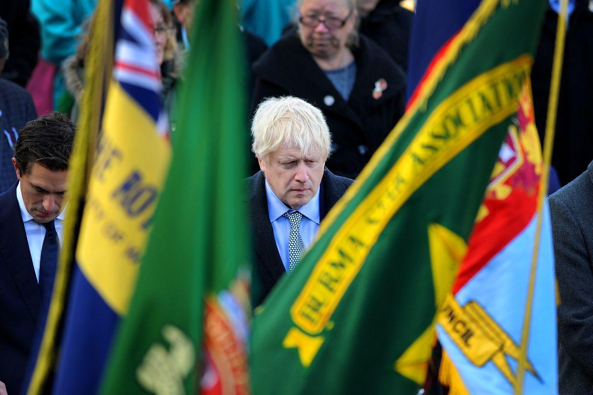 Boris Johnson at the Wolverhampton service