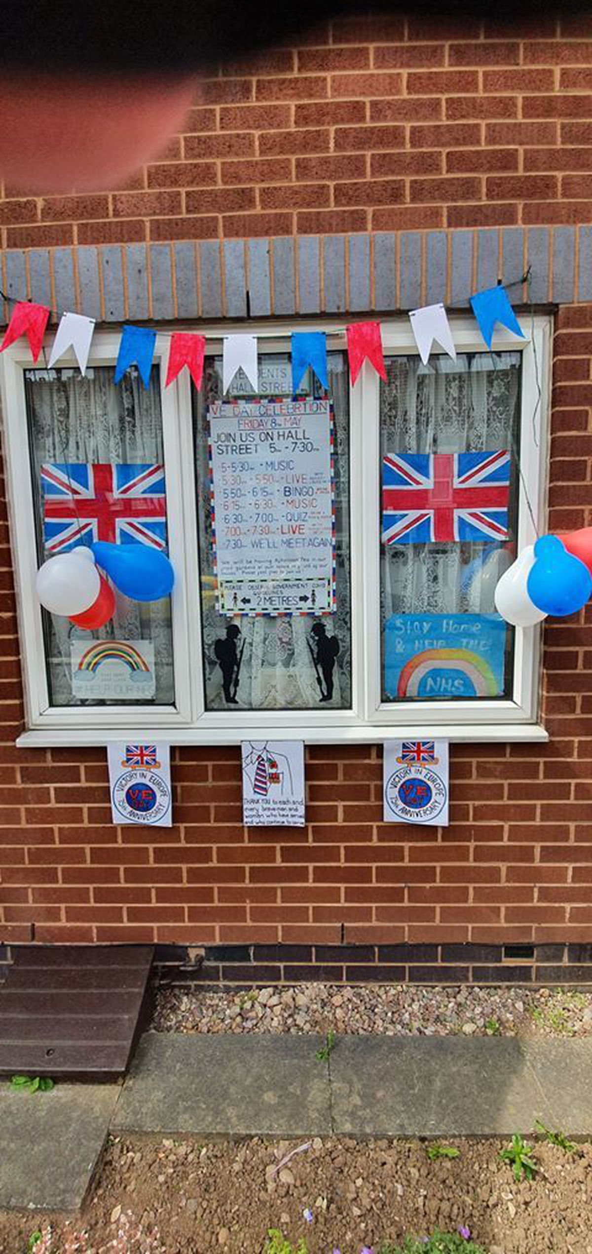 VE Day celebrations in Hall St, Cradley Heath