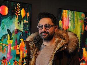 WOLVERHAMPTON PIC MNA PIC DAVID HAMILTON PIC  EXPRESS AND STAR 14/12/2019 Attending the opening of Wolverhampton Society of Artists Centenary Exhibition, at Wolverhampton Art Gallery, Wolverhampton, author and journalist Sathnam Sanghera..