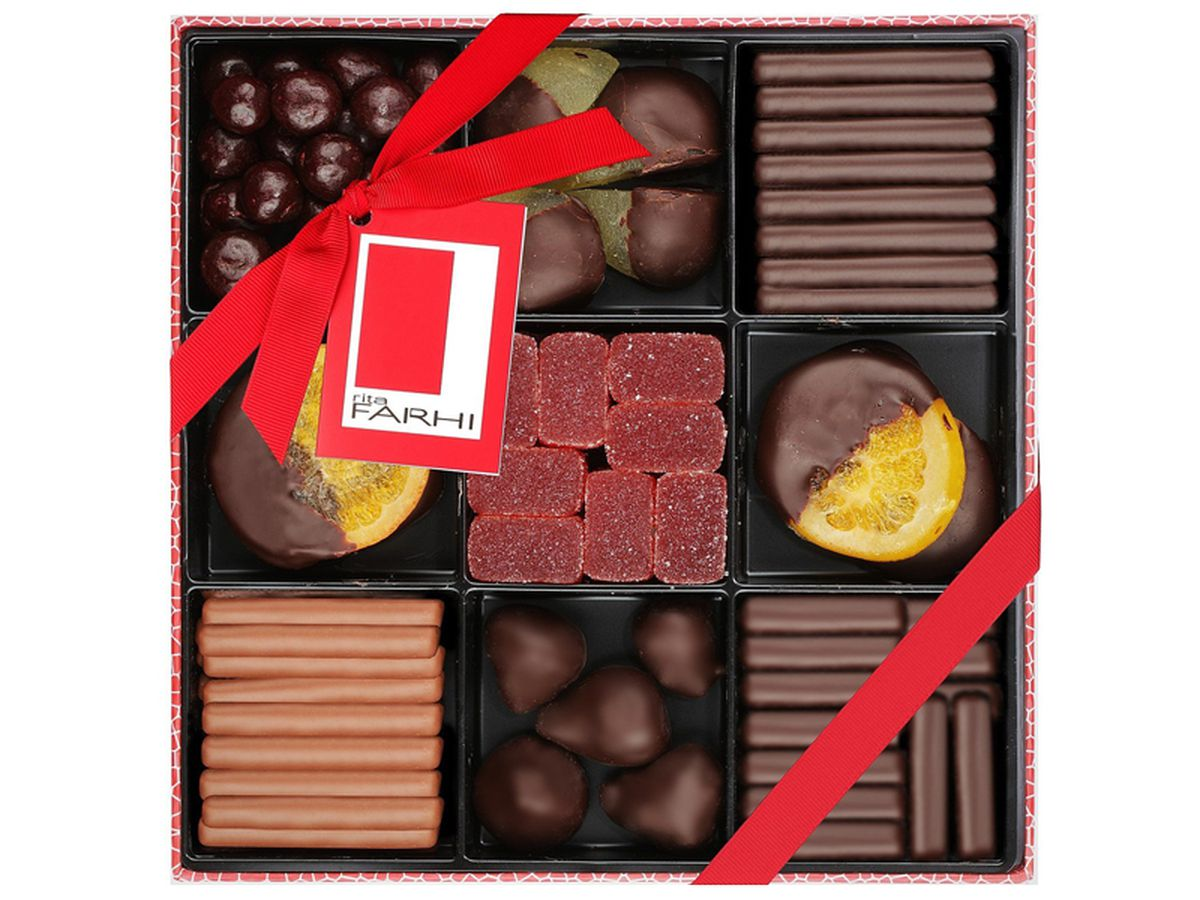 Rita Farhi Luxury Belgian Chocolate Fruit Selection