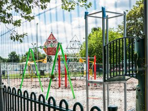 The new playground is nearing completion