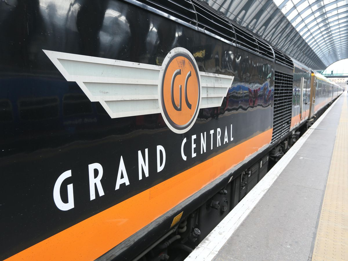 A Grand Central train at King's Cross station in London (Martin Keene/PA)
