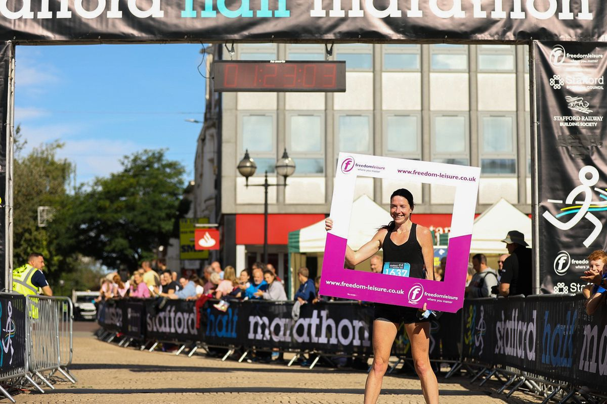 The first woman to complete the half marathon was Birchfield Harrier Kelly Butler, winning her category for the third race in a row.