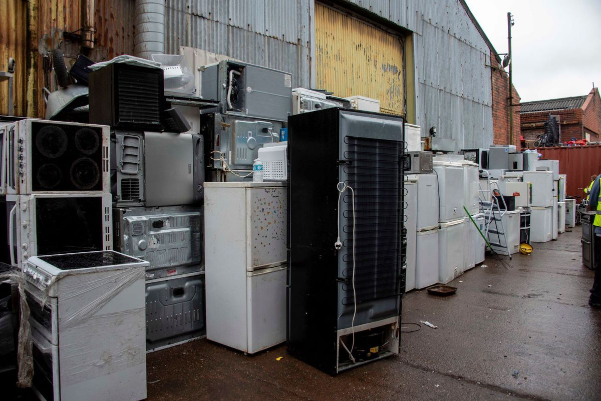 Some of the discarded fridges and freezers at the site